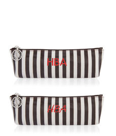 Brown & White Small T Gusset Cosmetic Bag