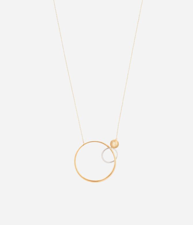 Luxe Modern Asscher Circle Necklace