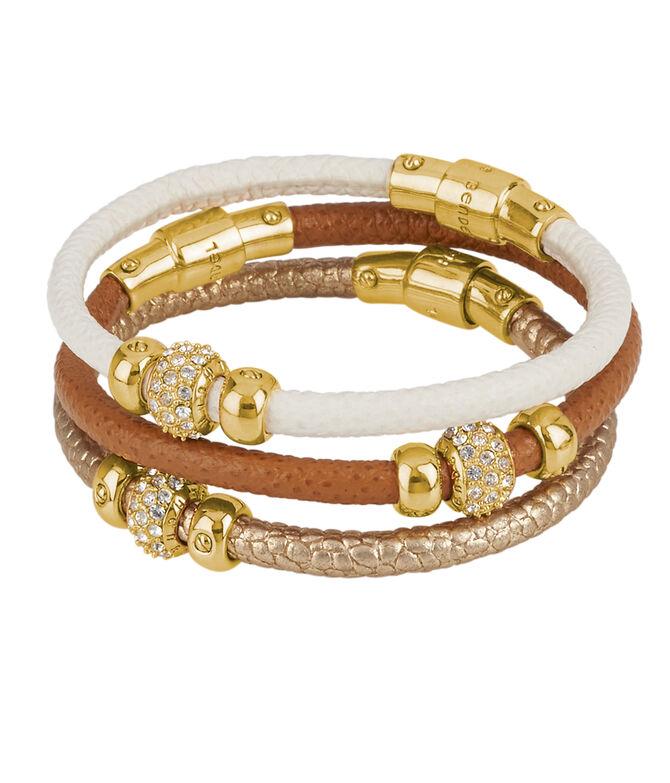 Triple Leather Bracelet