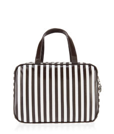 Brown & White Large Hanging Weekender Bag