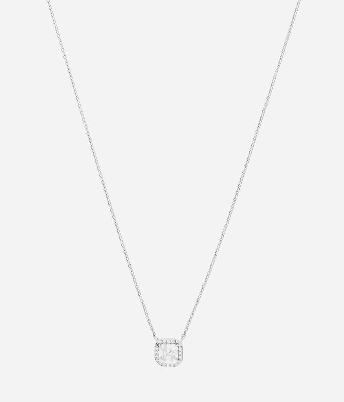 Luxe Asscher Cut Pave Necklace
