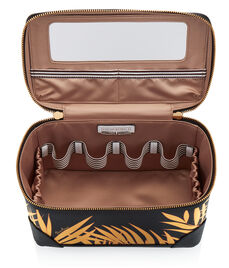West 57th Palm Leaf Train Case