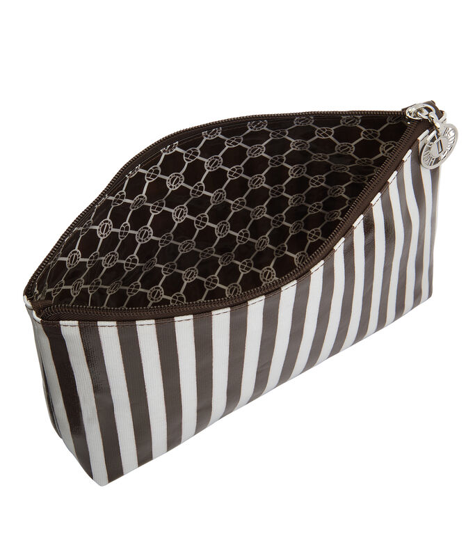 Brown & White Large T Gusset Cosmetic Bag