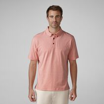 Sanded Jersey Mini Stripe Golf Shirt