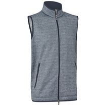 Printed Tweed Fleece Vest