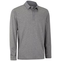 Long Sleeve Cotton Blend with Woven Detail Polo