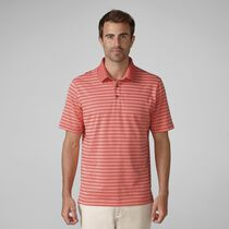 Heather Slub Stripe Golf Shirt