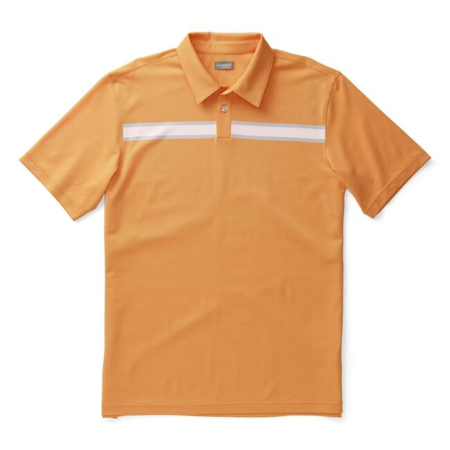 Performance Pique Engineered Block Stripe Polo