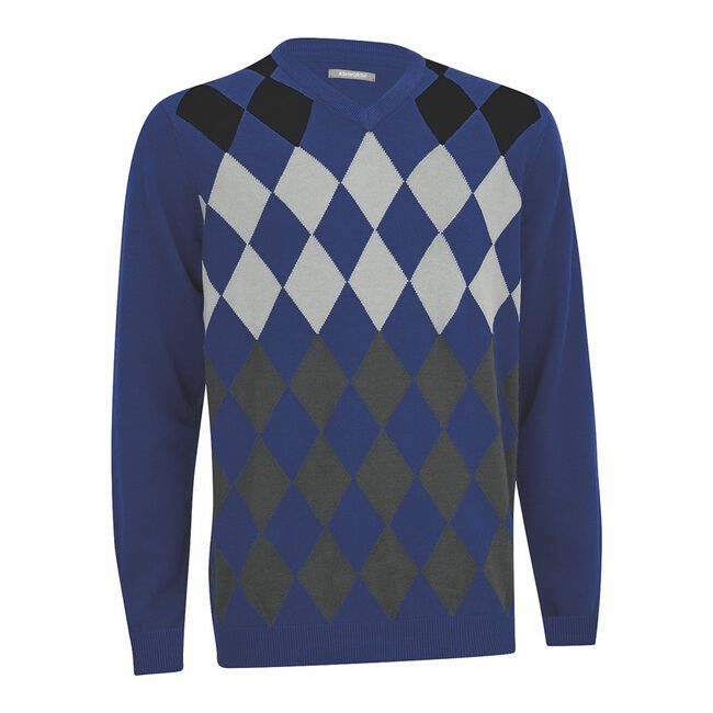 Argyle V-Neck Sweater