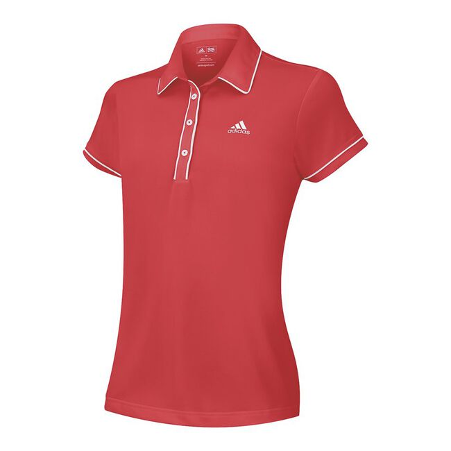 Girls ClimaLite Solid Piped Polo