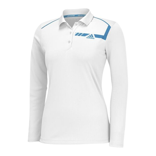 climachill Chest Print Long Sleeve Polo