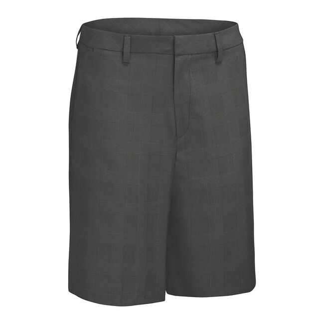 Glen Plaid Flat Front Short