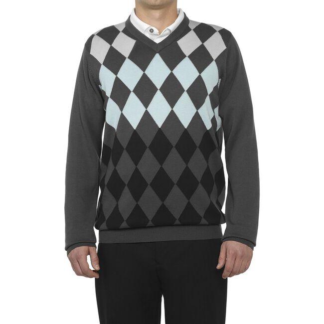 Argyle V-Neck Sweater