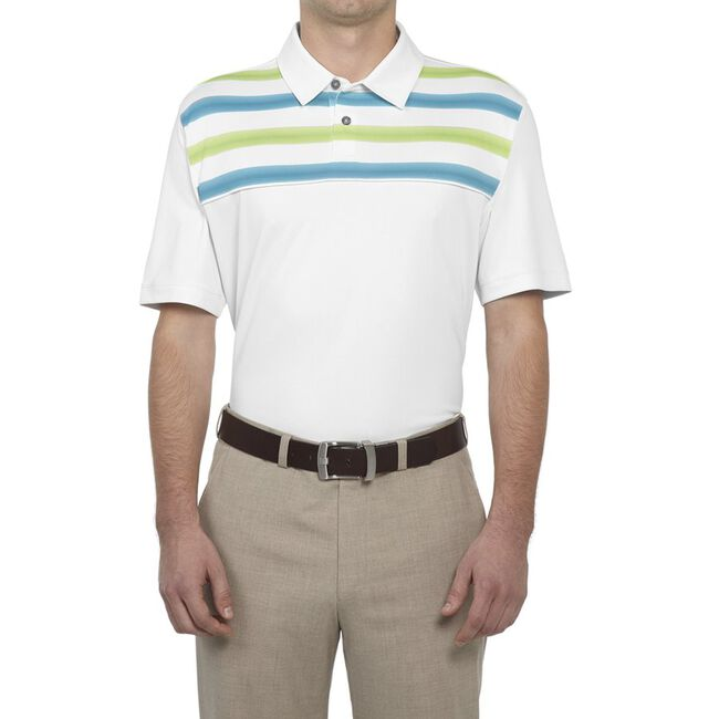Performance Double-Knit Chest Print Golf Shirt