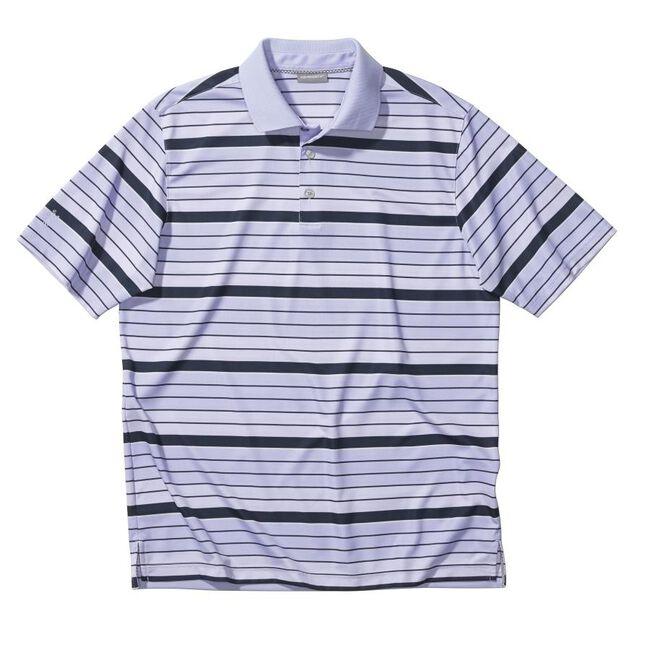 Performance Gradient Stripe Interlock Golf Shirt