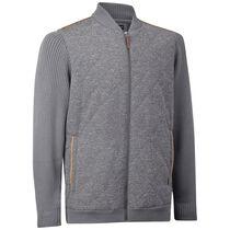 Quilted Tweed Bomber Jacket