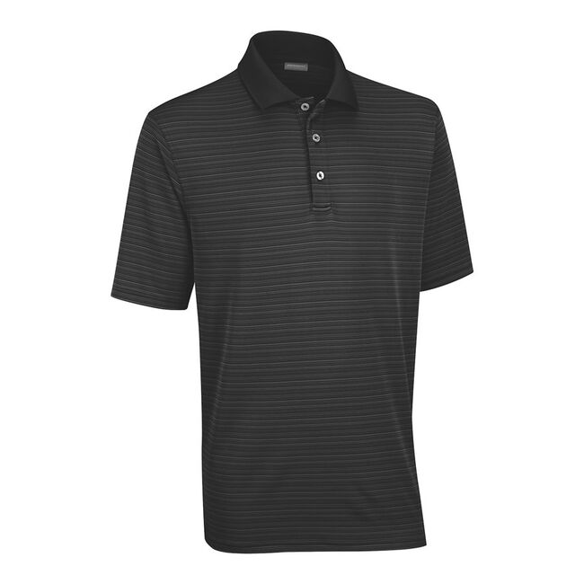 Performance Interlock Shadow Stripe Golf Shirt