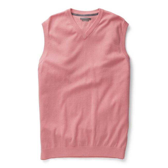Solid Pima V-Neck Sweater Vest