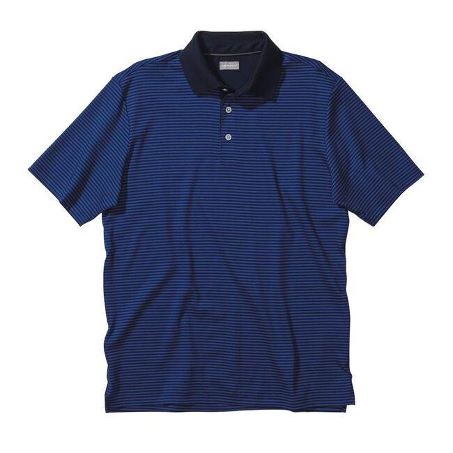 Signature Two-Tone Cotton Interlock Stripe Golf Shirt