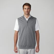 Slub French Terry Half Zip Vest