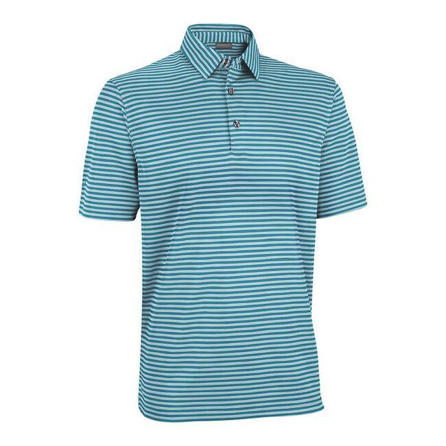 Performance Interlock Pencil Stripe Golf Shirt