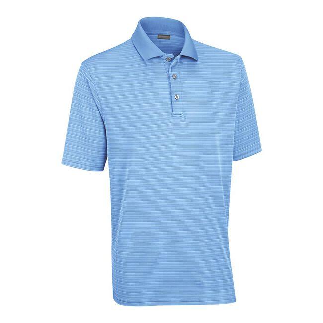 Performance Interlock Shadow Stripe Golf Shirt