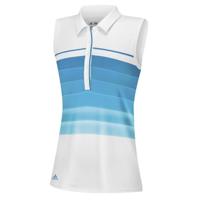 puremotion gradient 3-Stripes sleeveless polo