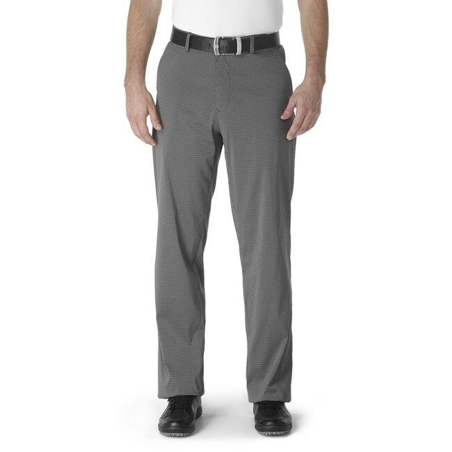 Microfiber Mini Check Flat Front Trouser