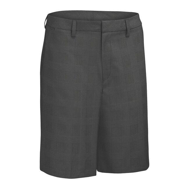 Glen Plaid Flat Front Short