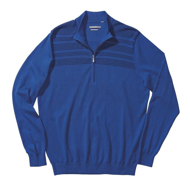 Engineer Chest Stripe Pima Half-Zip Sweater