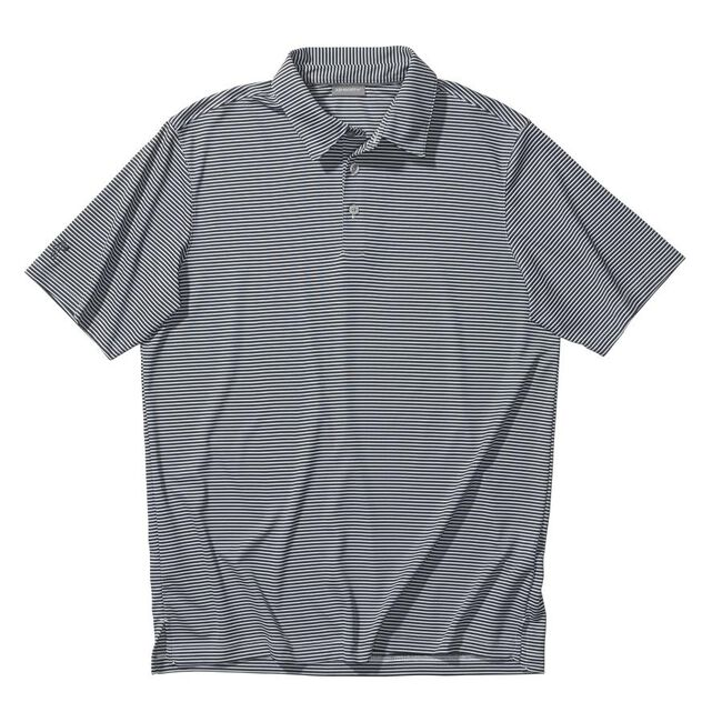 Performance Interlock Mini-Stripe Golf Shirt