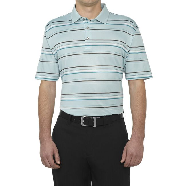 Performance Interlock Stripe Golf Shirt