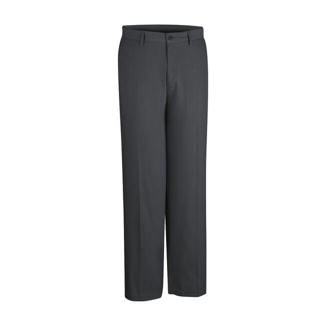 Microfiber Herringbone Flat Front Pant