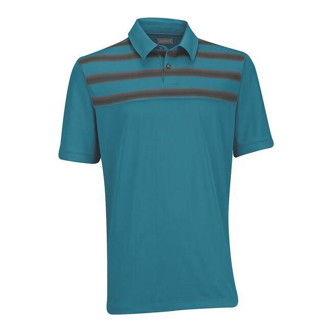 Performance Double-Knit Chest Print Golf Shirt