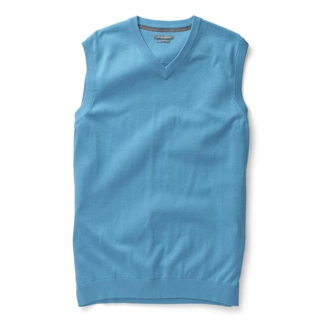 Solid Pima V-Neck Sweater Vest