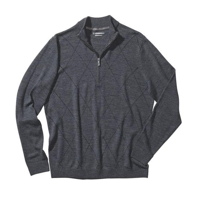Diamond Merino Wool Half-Zip Sweater