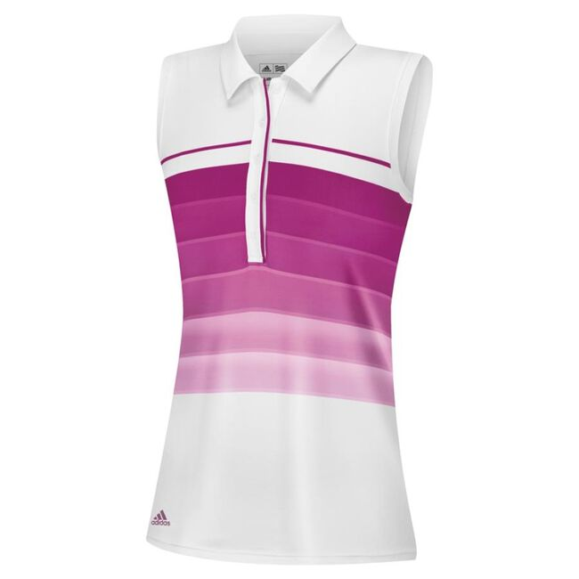 puremotion gradient 3-Stripes sleeveless polo