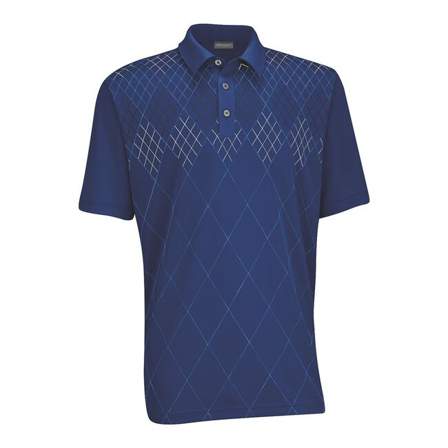 Performance Double Knit Front Panel Golf Shirt