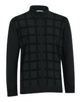 Merino Wool Full Zip Front Panel Wind Sweater