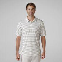 Sanded Pima Interlock Heather Stripe Golf Shirt