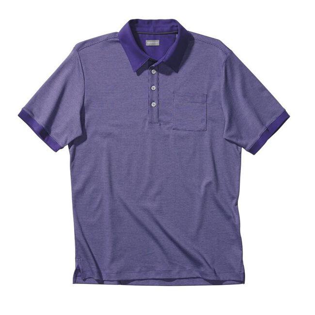 Signature Micro Stripe Cotton Pocket Golf Shirt