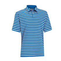 Matte Interlock Stripe Golf Shirt