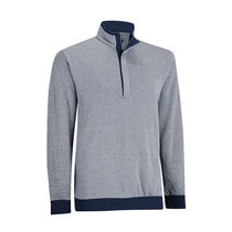 Double Layer Knit Half-Zip Pullover