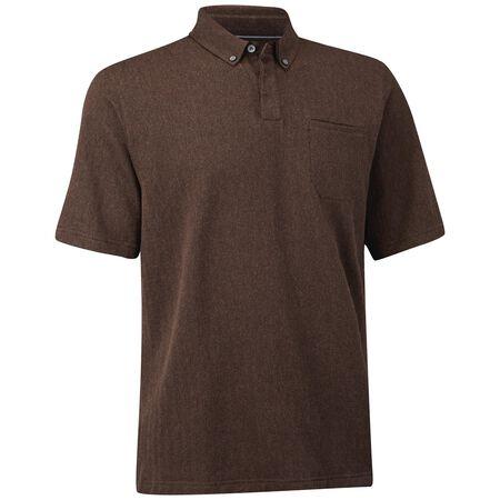 Cotton Herringbone Pocket Polo
