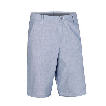 Cotton Blend Pinstripe Slub Flat Front Short