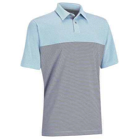 EZ-SOF Blocked Stripe Golf Shirt
