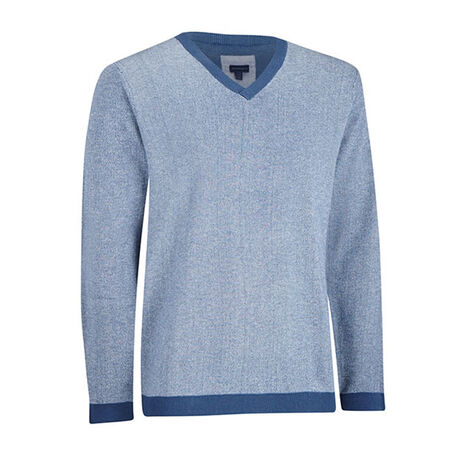 Cashmere Blend Oxford V-Neck Sweater