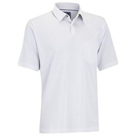 Pique Stripe Pocket Golf Shirt