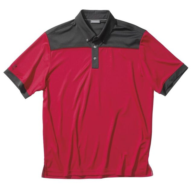 Performance Blocked Stretch Pique/Double Knit Golf Shirt