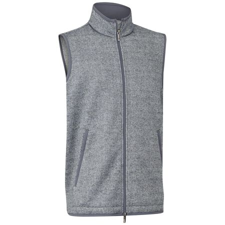 Printed Tweed Fleece Vest